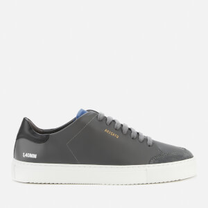 Axel Arigato Men's Clean 90 Triple Leather Cupsole Trainers - Dark Grey/Black/Cobalt Blue