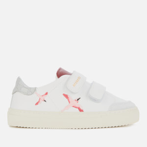 Axel Arigato Kids' Clean 90 Bird Velcro Leather Cupsole Trainers - White/Croc White/Red