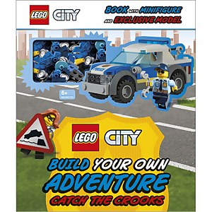 DK Books LEGO City Build Your Own Adventure Catch the Crooks Hardback
