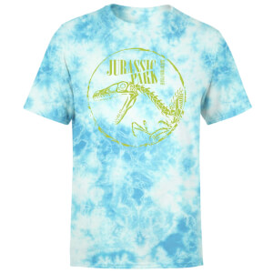 Jurassic Park Skell Unisex T-Shirt - Light Blue Tie Dye