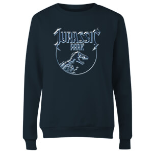 Jurassic Park Logo Metal Women's Sweatshirt - Navy