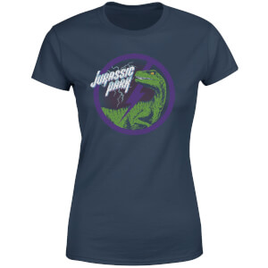 Jurassic Park Raptor Bolt Women's T-Shirt - Navy