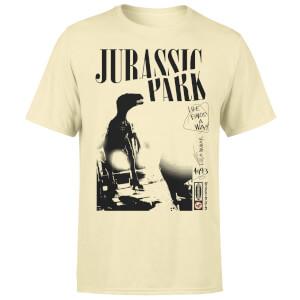 Jurassic Park Isla Nublar Punk Unisex T-Shirt - White Vintage Wash
