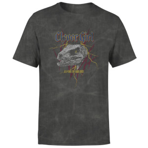 Jurassic Park Clever Girl Raptors On Tour Unisex T-Shirt - Black Acid Wash