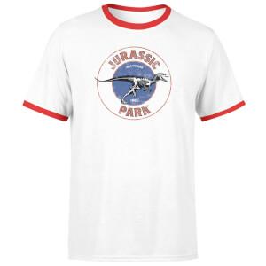 Jurassic Park Jurassic Target Unisex Ringer T-Shirt - White/Red