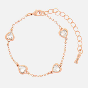 Ted Baker Women's Heniee Crystal Heart Bracelet - Rose Gold