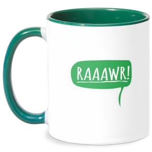 Raaawr Mug - White/Green