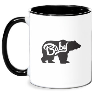 Baby Bear Mug - White/Black