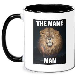 The Mane Man Mug - White/Black