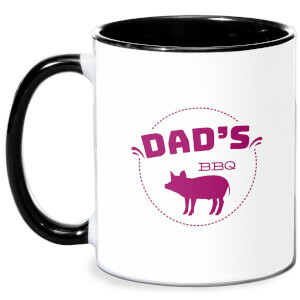 Dads BBQ Mug - White/Black