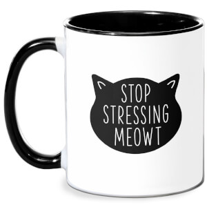 Stop Stressing Meowt Mug - White/Black