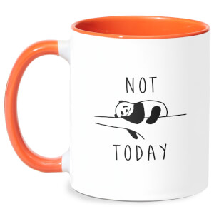 Not Today Mug - White/Orange