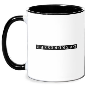 Overdressed Black Mug - White/Black