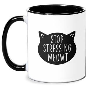 Stop Stressing Meowt Mug - White/Black