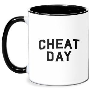 Cheat Day Mug - White/Black