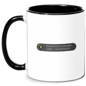 Achievement Unlocked -Fatherhood Mug - White/Black