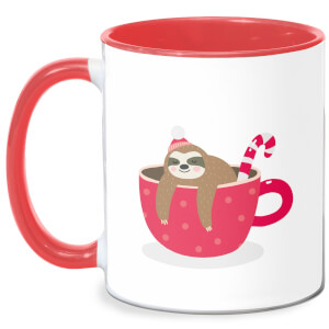 Merry Slothmas Mug - White/Red
