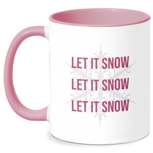 Let It Snow Mug - White/Pink