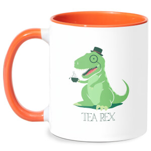 Tea Rex Mug - White/Orange