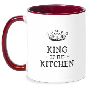 King Of The Kitchen Mug - White/Burgundy