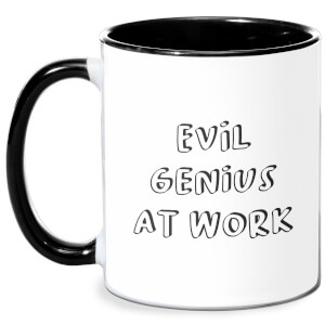 Evil Genius At Work Mug - White/Black