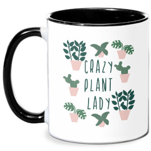 Crazy Plant Lady Mug - White/Black