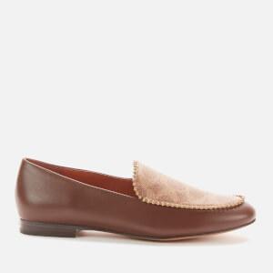 Coach Women's Harper Beadchain Signature Print Loafers - Dark Saddle/Tan