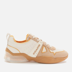 Coach Women's Citysole Leather/Terrycloth Running Style Trainers - Chalk/Tumeric