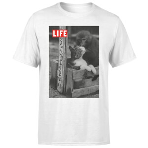 LIFE Magazine Monkey And Cat Men's T-Shirt - White