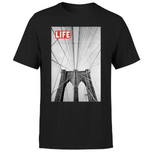 LIFE Magazine City Bridge Men's T-Shirt - Black