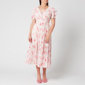 Self-Portrait Women's Pleated Floral Print Midi Dress - Multi