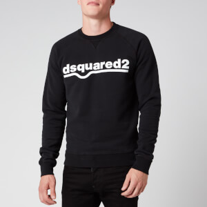 Dsquared2 Men's Classic Raglan Fit Logo Sweatshirt - Black
