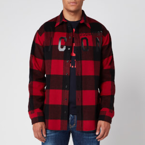 Dsquared2 Men's Checked Icon Shirt - Red