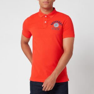Superdry Men's Classic Superstate Pique Polo Shirt - Grenadine
