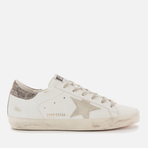 Golden Goose Deluxe Brand Women's Superstar Leather Trainers - White/Ice/Black Gold