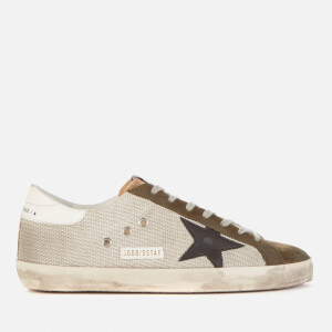 Golden Goose Deluxe Brand Men's Superstar Leather Trainers - Silver/Drill Green/Black/White