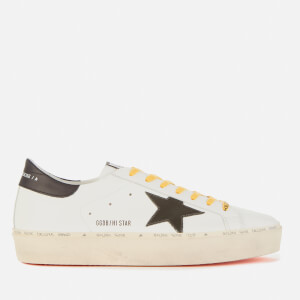Golden Goose Deluxe Brand Men's Hi Star Leather Flatform Trainers - White/Army Green/Black