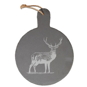 Stag Engraved Slate Cheese Board