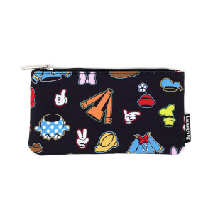 Loungefly Disney Sensational 6 Aop Outfits Nylon Pouch