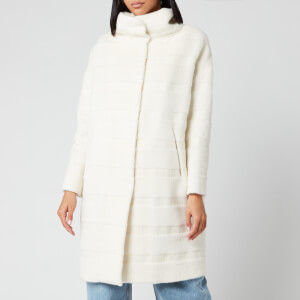 Herno Women's 3/4 Big Hood Wool Coat - Bianco