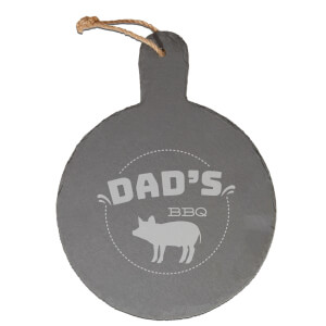 Dad's Bbq Engraved Slate Cheese Board