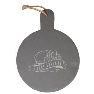 Fast Food Best Friends Engraved Slate Cheese Board