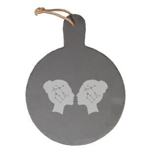 Gemini Engraved Slate Cheese Board