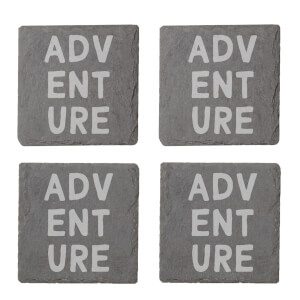Adventure Engraved Slate Coaster Set