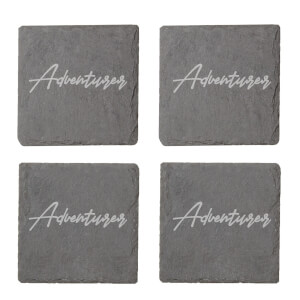 Adventurer Engraved Slate Coaster Set