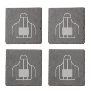 Apron Engraved Slate Coaster Set