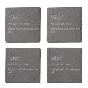 Diet Description Engraved Slate Coaster Set from I Want One Of Those