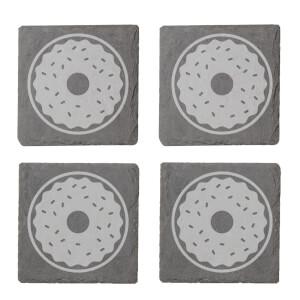 Donut Engraved Slate Coaster Set