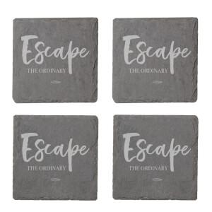 Escape The Ordinary Engraved Slate Coaster Set