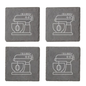 I'm A Whisk Taker Engraved Slate Coaster Set